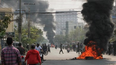 صورة في الساعات الأخيرة في احتجاجات بورما ارتفعت حصيلة القتلى إلى 91 وفقًا لوسائل إعلام محلية