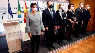 صورة وقعت ثماني دول إيبيرية اليوم في مؤتمر القمة السابع والعشرين على اتفاقية الإطار لتعزيز تداول المواهب في الفضاء الأيبيري الأمريكي