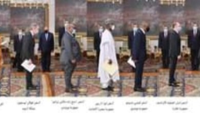 صورة الرئيس السيسى يتسلم أوراق اعتماد 24 سفيراً جديداً بالقاهرة