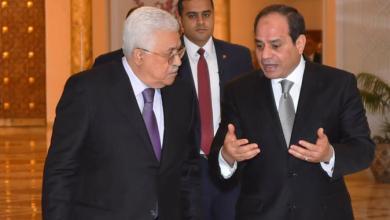 صورة الرئيس الفلسطينى يهنىء  نظيره المصرى بذكرى حرب أكتوبر المجيدة