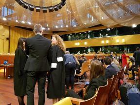 Zalovana strana-zastupci EU se radi pred zahajenim soudu 20190305_090021