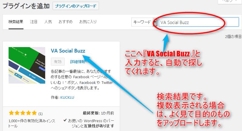 VA Social Buzz 設定 方法 ワードプレス
