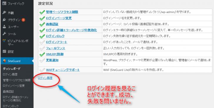 ワードプレス wordpress SiteGuard WP Plugin ブルートフォースアタック