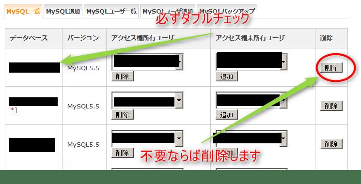 MySQLユーザーの追加設定可能な上限数に達しているため追加できません 09