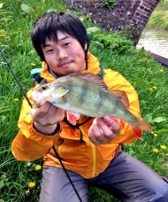 Masaaki with Perch