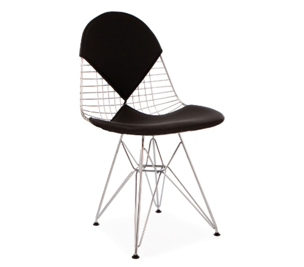 Black Wire Chair Black Bikini Charles And Ray Eames Style Dkr Wire Chair