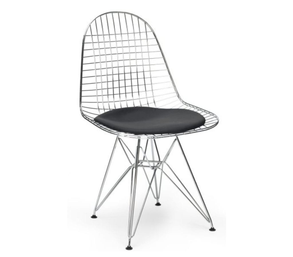 Eames Wire Chair Black Charles And Ray Eames Style Dkr Wire Chair