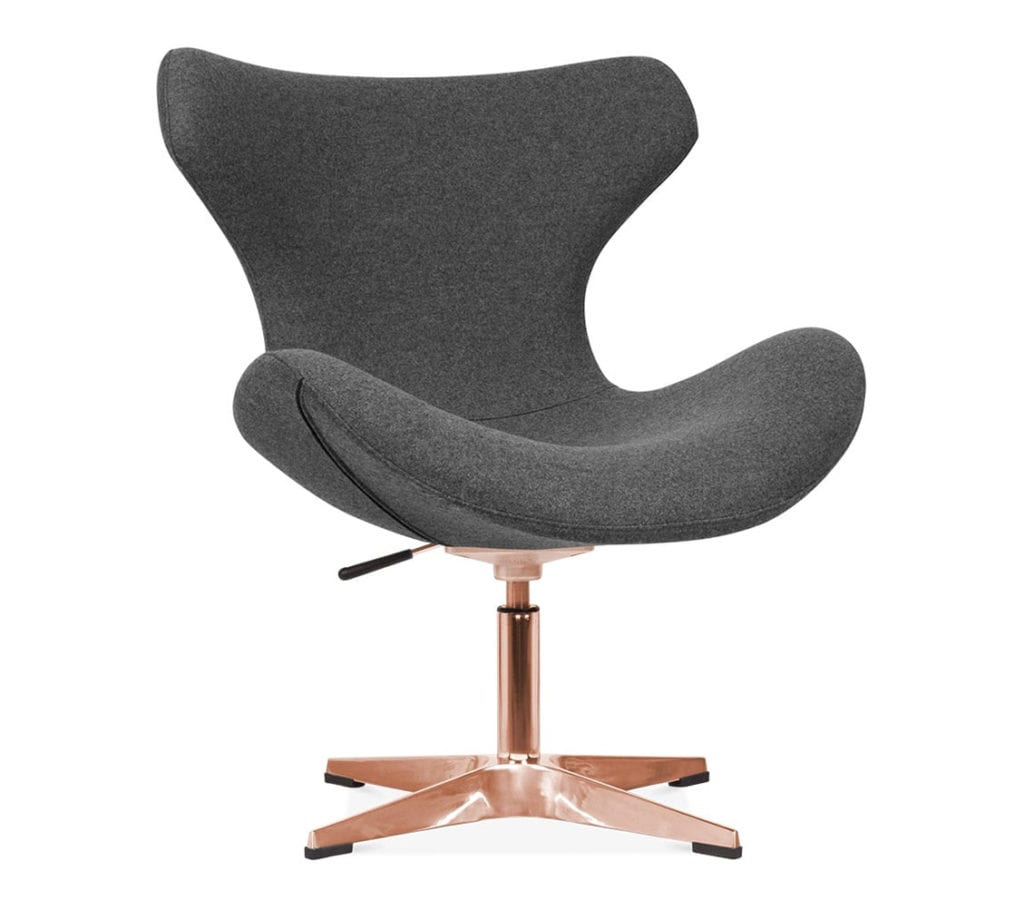 Upholstered Swivel Chairs Foss Upholstered Swivel Lounge Chair With Copper Base