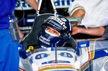 Imola, Italy, 28th - 30th April 1995, RD3. Damon Hill