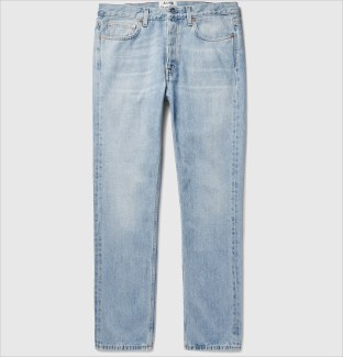 Acne - Van Slim-Fit Tapered Stonewashed Japanese Denim Jeans