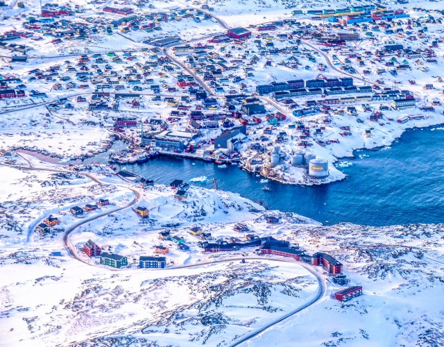 ilulissat-town-arial-view