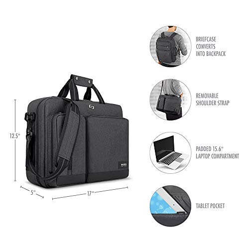 Solo Duane 15 6 Inch Laptop Hybrid Briefcase Converts To Backpack Best Offer Lightbagtravel Com