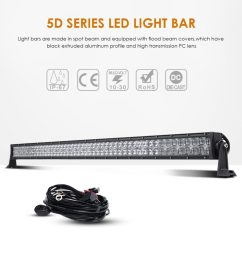 auxbeam 288w led work light driving light spot flood combo beam bar 5d lens for car [ 1024 x 1024 Pixel ]