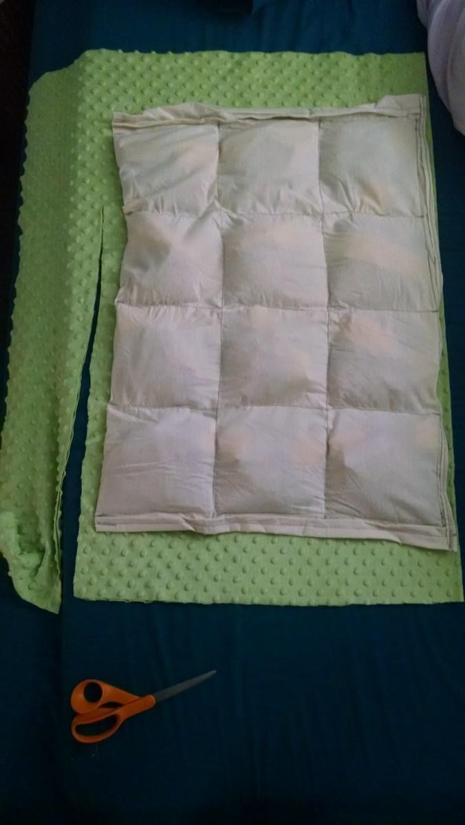 Weighted blanket sensory aid sewing tutorial  lightbeforedark