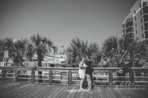 Carolina Beach Boardwalk Fort Fisher Engagement Photographer