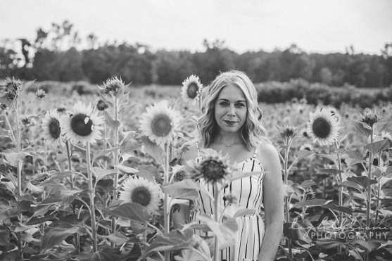 Wilmington NC Sunflower Field Photography