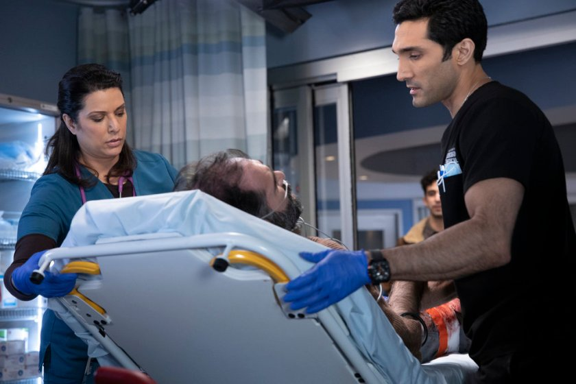 """CHICAGO MED -- """"So Many Things We've Kept Buried"""" Episode 610 -- Pictured: (l-r) Dominic Rains as Crockett Marcel -- (Photo by: Adrian S. Burrows Sr./NBC)"""