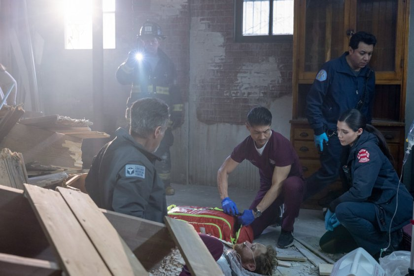 """CHICAGO MED -- """"Some Things Are Worth The Risk"""" Episode 612 -- Pictured: (l-r) Brian Tee as Ethan Choi, Hanako Greensmith as Violet -- (Photo by: Adrian S. Burrows Sr./NBC)"""