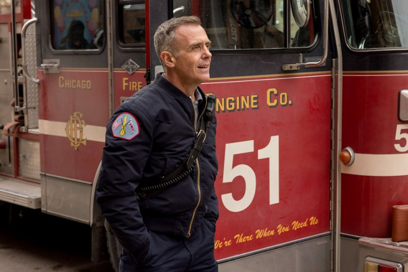 """CHICAGO FIRE -- """"Natural Born Firefighter"""" Episode 912 -- Pictured: David Eigenberg as Christopher Herrmann -- (Photo by: Adrian S. Burrows Sr./NBC)"""