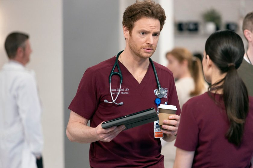 """CHICAGO MED -- """"What A Tangle Web We Weave"""" Episode 613 -- Pictured: Nick Gehlfuss as Dr. Will Halstead -- (Photo by: Adrian S Burrows Sr./NBC)"""