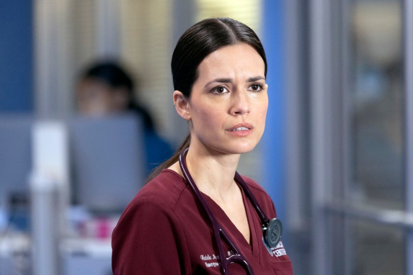 """CHICAGO MED -- """"What A Tangle Web We Weave"""" Episode 613 -- Pictured: Torrey DeVitto as Natalie Manning -- (Photo by: Adrian S Burrows Sr./NBC)"""
