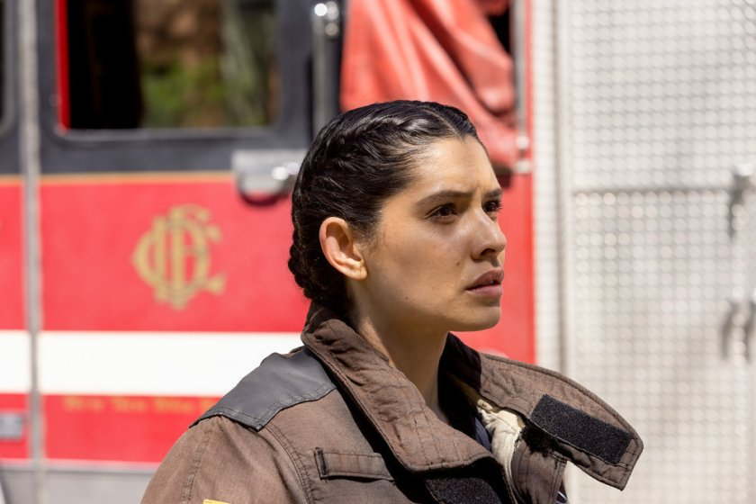 """CHICAGO FIRE -- """"Don't Hang Up"""" Episode 913 -- Pictured: Miranda Rae Mayo as Stella Kidd -- (Photo by: Adrian S. Burrows Sr./NBC)"""