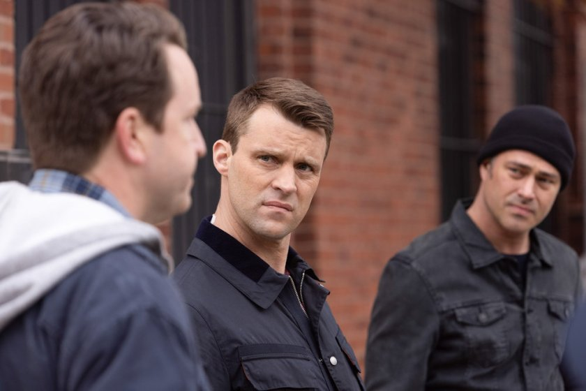 """CHICAGO FIRE -- """"What Comes Next"""" Episode 914 -- Pictured: (l-r) Jesse Spencer as Matthew Casey, Taylor Kinney as Kelly Severide -- (Photo by: Adrian S. Burrows Sr./NBC)"""