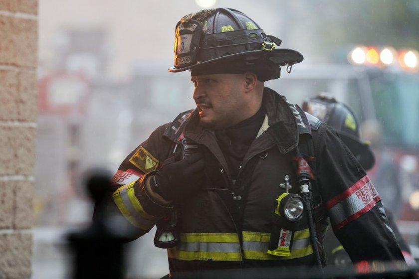 "CHICAGO FIRE -- ""A White Knuckle Panic"" Episode 915 -- Pictured: Joe Minoso as Joe Cruz -- (Photo by: Lori Allen/NBC)"