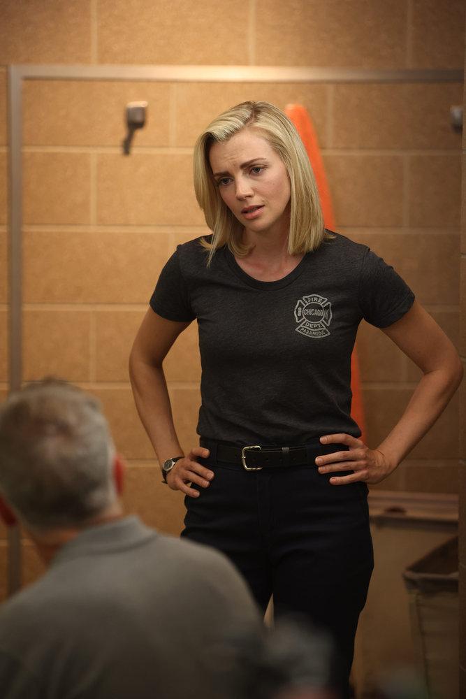"CHICAGO FIRE -- ""Mayday"" Episode 1001 -- Pictured: Kara Killmer as Sylvie Brett -- (Photo by: Adrian S. Burrows Sr./NBC)"