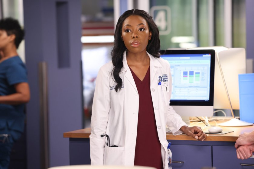 """CHICAGO MED -- """"You Can't Always Trust What You See"""" Episode 701 -- Pictured: Asjha Cooper as Vanessa Taylor -- (Photo by: George Burns Jr/NBC)"""