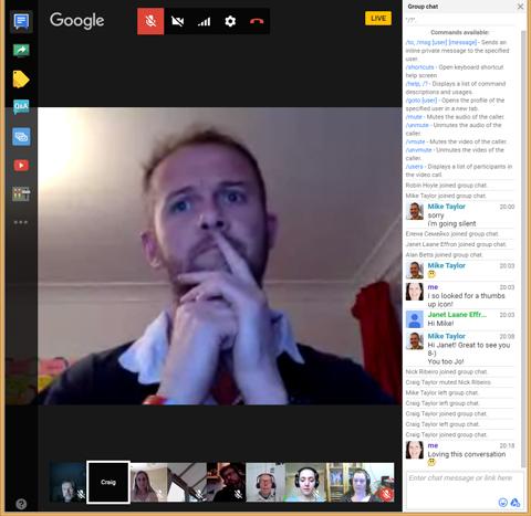 Google Hangout host Craig Taylor, Solutions Architect at HT2