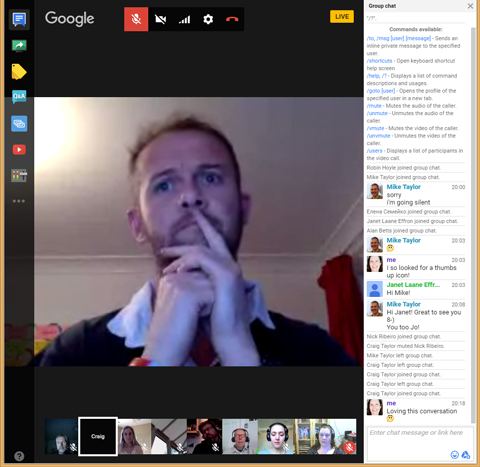 Google Hangout host Craig Taylor, Solutions Architect at HT2