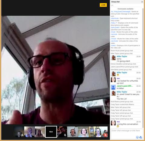 Nick Ribeiro, Director of PT3, on the Google Hangout