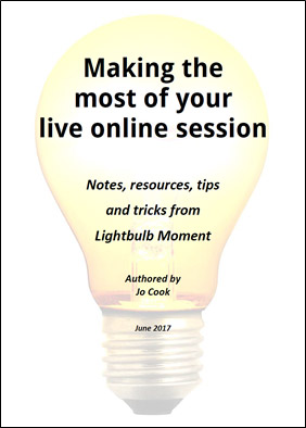 Making the most of your live online session – resource to download