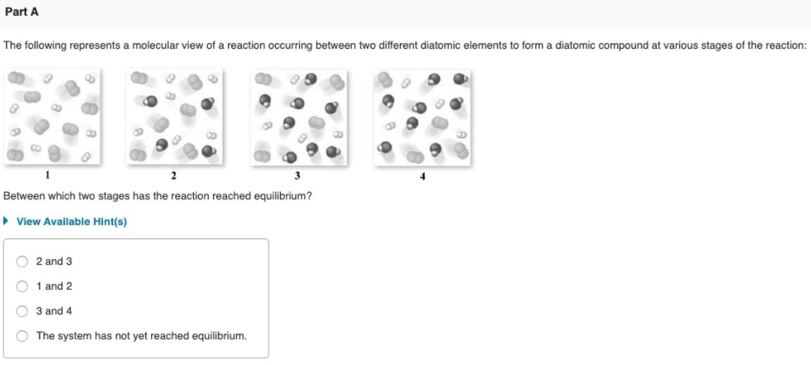 The following represents a molecular view of a reaction