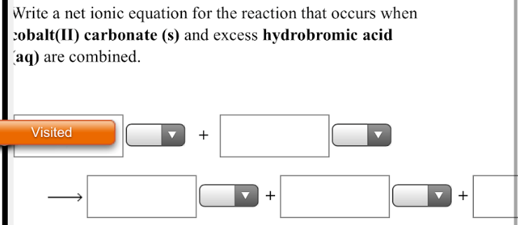Write a net ionic equation for the reaction that occurs