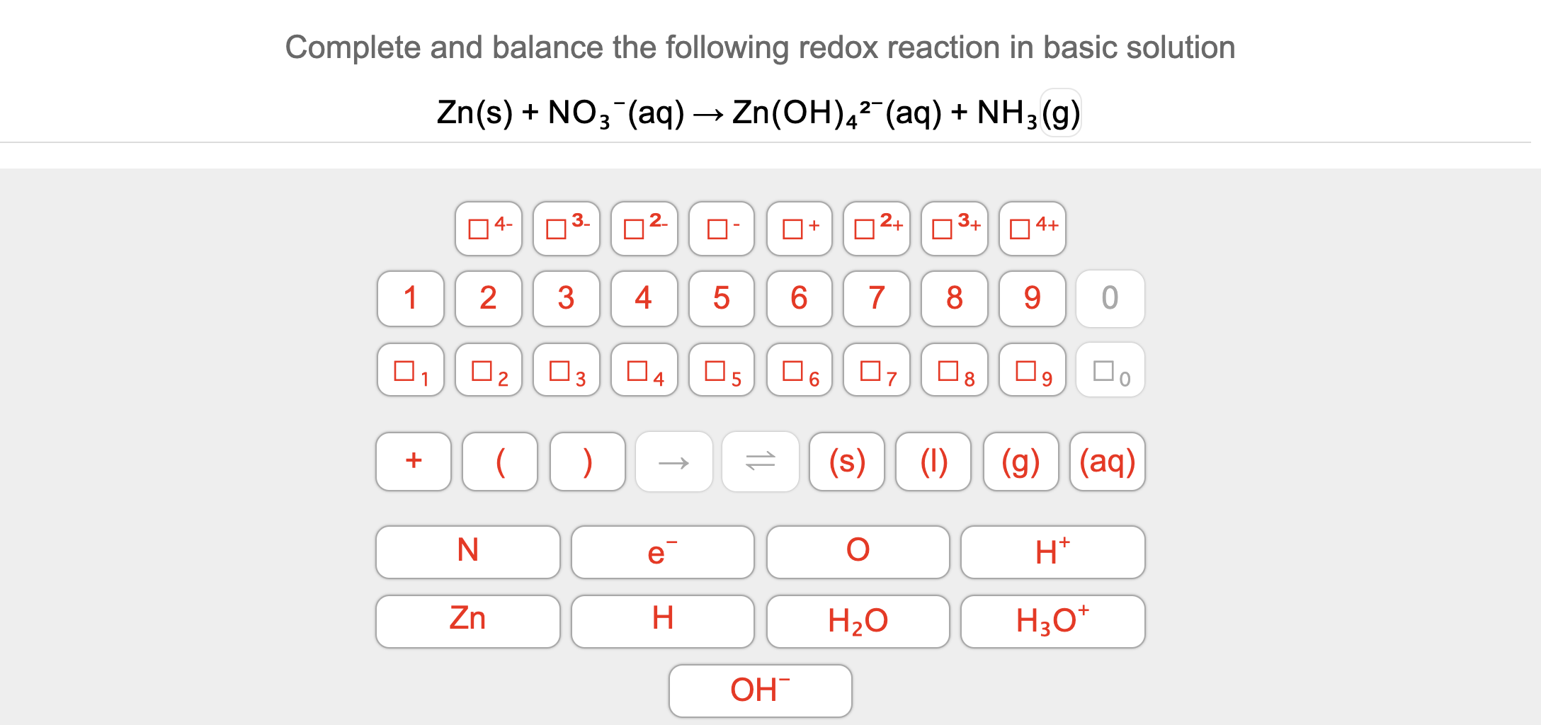 Complete And Balance The Following Redox Reaction In Basic