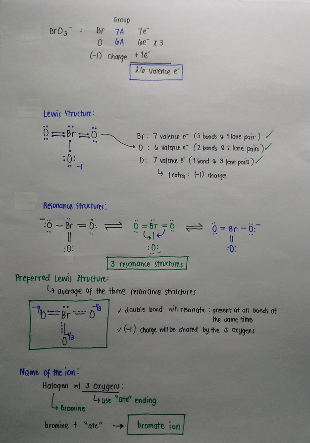 Bro3- : bro3-, Solution:, Lewis, Structures, Chemistry