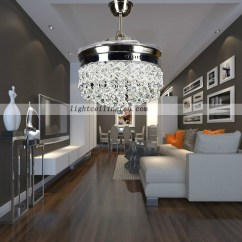 Bright Living Room Ceiling Lights Decorating Ideas With Burnt Orange Retractable Crystal Led Fan Remote ...