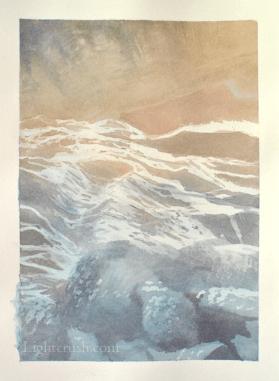 Postcard Rock 2 - Watercolour on paper - 14x19cm - 2015