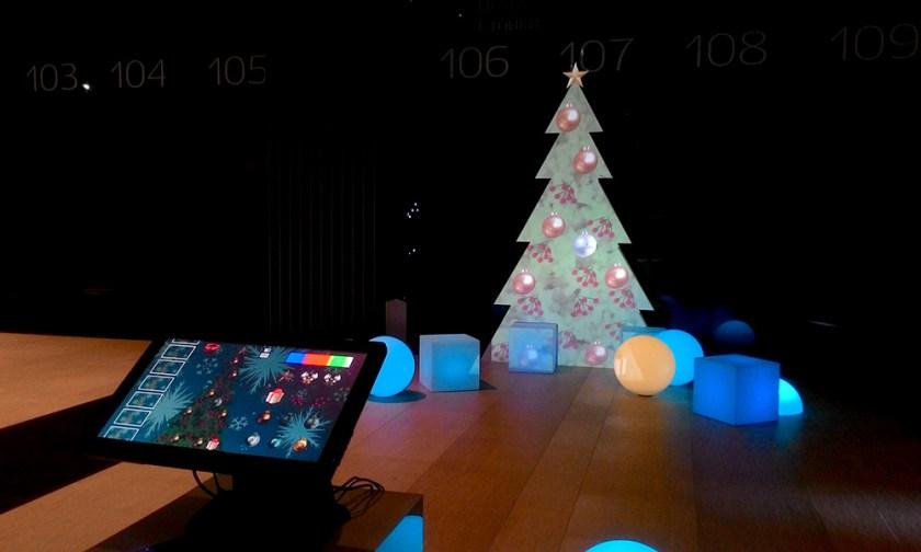 Интерактивная 3D-мэппинг елка.