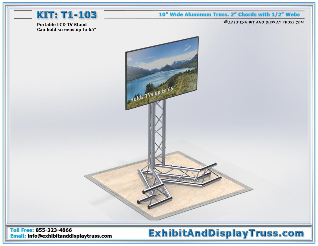 LCD Amp Plasma Screen Mounts T1 103 Portable TV Stand