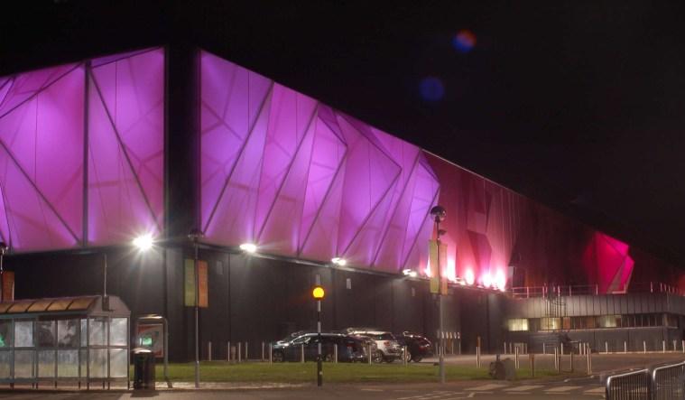 Birmingham venue facade lighting