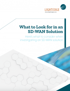 Image of what to look for in an SD-WAN Solution whitepaper from LightEdge