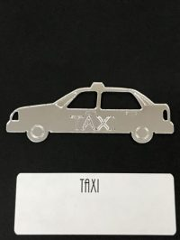 Taxi/Road Show Set of Mirrored Plexiglas. TAXI