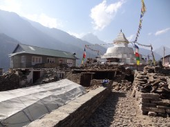 Earthquake damage, Ghat – LED Solu Khumbu Trek, April/May 2016