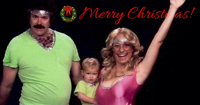 A Family Has Been Making Amazingly Awkward Christmas Cards