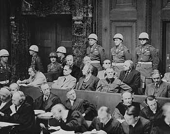 The defendants at Nuremberg Trials