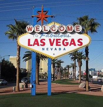 English: The Welcome to Fabulous Las Vegas Sign