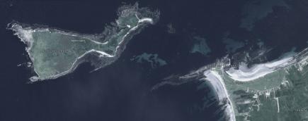 Mutton island and Lurga Point. Image Google Earth